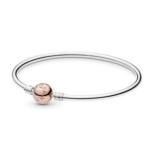 New Pandora rose gold bangle bracelet